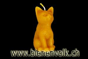 Bienenwachskerze Katze