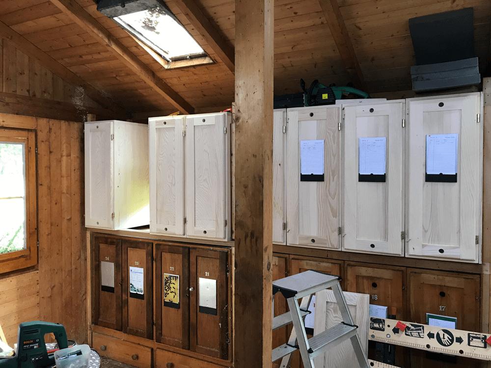 Bienenhaus in der Umbauphase