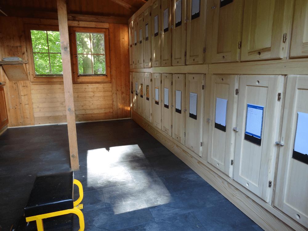 Blick ins umgebaute Bienenhaus